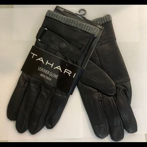 Tahari Men's Leather Gloves w/Touch